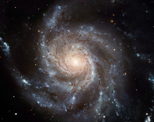 An example of a spiral galaxy, the Pinwheel Galaxy (also known as Messier 101 or NGC 5457) - PHOTO FOR EDUCATIONAL PURPOSE SPIRITUAL-