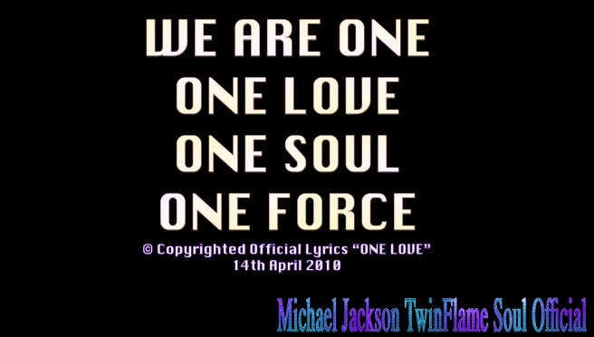 ONE LOVE APRIL 2010 LYRICS OFFICIAL REGISTERED COPYRIGHTS SUSAN ELSA TWIN SOUL POP MICHAEL JACKSON BABY STEPS MUSIC BIRTHDAY © Official TwinFlame Soul Blog ARCHANGELMICHAEL777