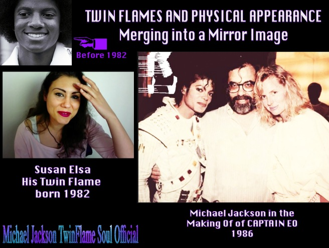 TWIN FLAMES AND PHYSICAL APPEARANCE- Merging into Mirror Image of Each Other since 1982- Michael Jackson Metamorphosis Story Documentary Project © Michael Jackson TwinFlame Soul Official