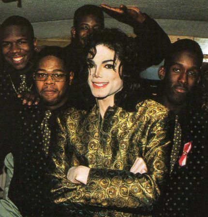 "Michael Jackson with Boyz II Men - Photo for educational Purpose ""Twin Flame Appearance and Likeness"""