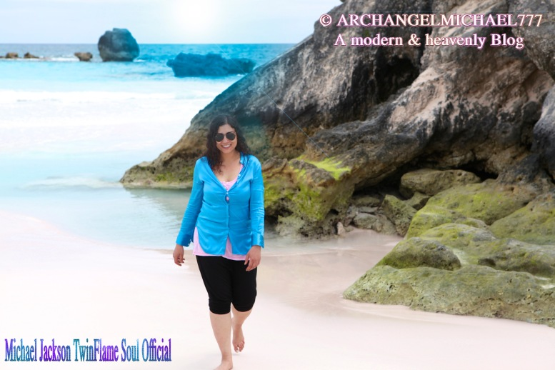 Susan Elsa doing Spiritual Energy Healing Work at the Bermuda Triangle- Archangel Michael Big Bermuda Project Insights © Michael Jackson TwinFlame Soul Official Blog