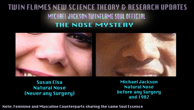 Michael Jacksons Nose Mystery and Twin Flame Appearance Merging - Natural Nose before Surgeries and 1982 © Susan Elsa-Michael Jackson TwinFlame Soul Official