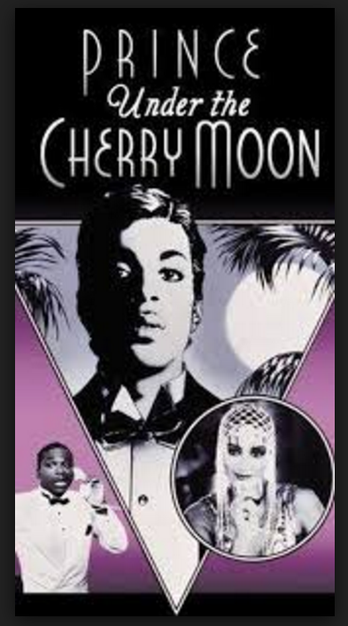 Prince´s UNDER THE CHERRY MOON Film (Warner Bros.) and artistic Foretelling of his Passing during Pink Full Moon - PHOTO FOR EDUCATIONAL PURPOSE-