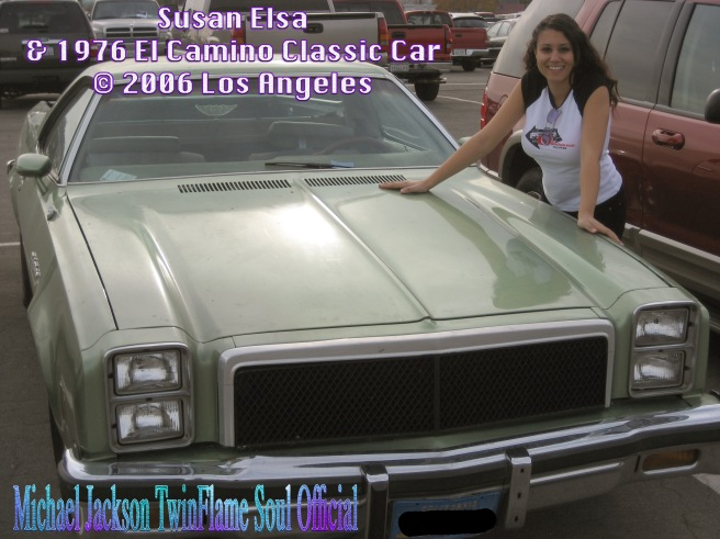 Susan Elsa and 1976 El Camino Classic Car -2006 Los Angeles © Michael Jackson TwinFlame Soul Official
