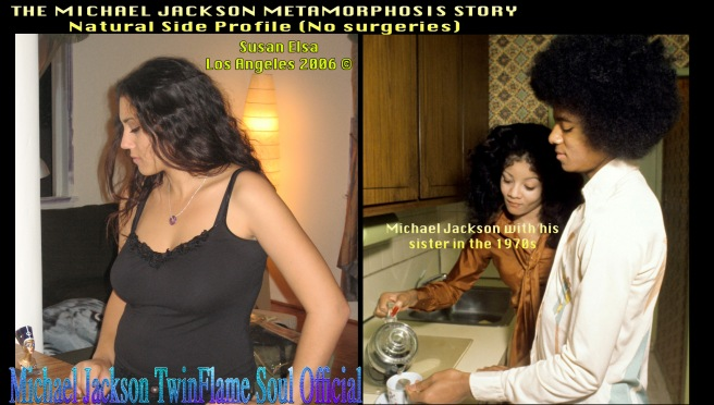 The Michael Jackson Metamorphosis Story- Natural Side Profile Twin Flame Comparison prior to any of his surgeries © Michael Jackson TwinFlame Soul Official