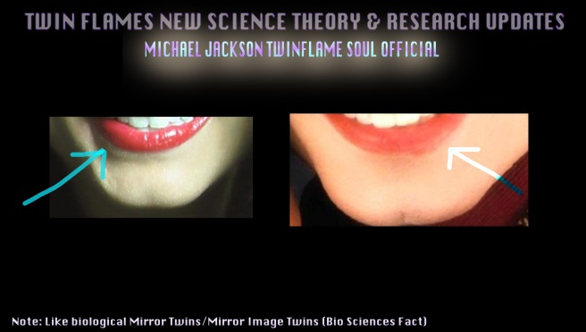 Twin Teeth- Susan Elsa and Michael Jackson Chin and Lower Teeth Upclose © Michael Jackson TwinFlame Soul Official