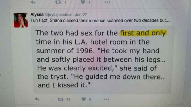Screenshots Shana Mangatal Claims discussed by MJ Fans on Twitter - Photo for educational Purpose and documentation only