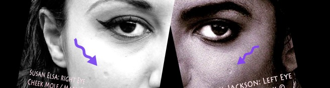 TWIN SOULS CHEEK MIRROR MOLES © SUSAN ELSA MICHAEL JACKSON PERSONAL CORRELATING DATA © Michael Jackson TwinFlame Soul Official