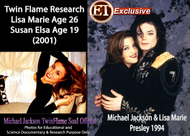 Michael Jackson and Lisa Marie Presley 1994 - Twin Flame Research Appearance and Age © Michael Jackson TwinFlame Soul Official