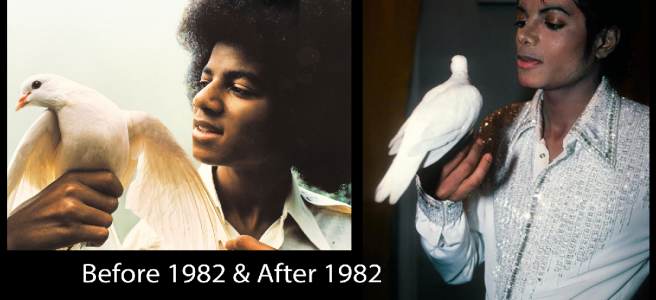 The Michael Jackson Metamorphosis Story- BEFORE AND AFTER 1982 (Photos for educational and documentation Purpose) © Michael Jackson TwinFlame Soul Official Blog