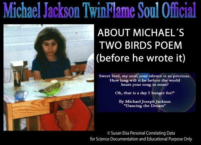 Susan Elsa 1988 with her TWO BIRDS before Michael published the Poem for his Book Dancing the Dream © Michael Jackson TwinFlame Soul Official