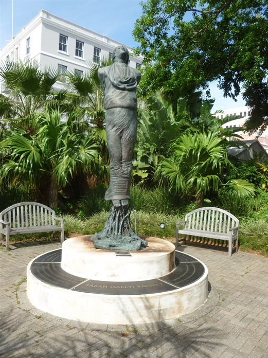 Statue of Sally Basset at the Stake in Bermuda (Black History and Slavery) - PHOTO FOR EDUCATIONAL PURPOSE- ArchangelMichael777
