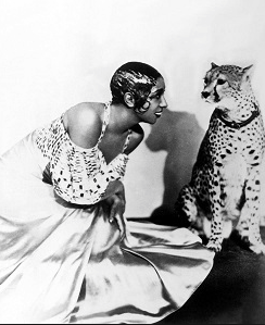 Josephine Baker with her Leopard - PHOTO FOR EDUCATIONAL PURPOSE- ArchangelMichael777 Blog