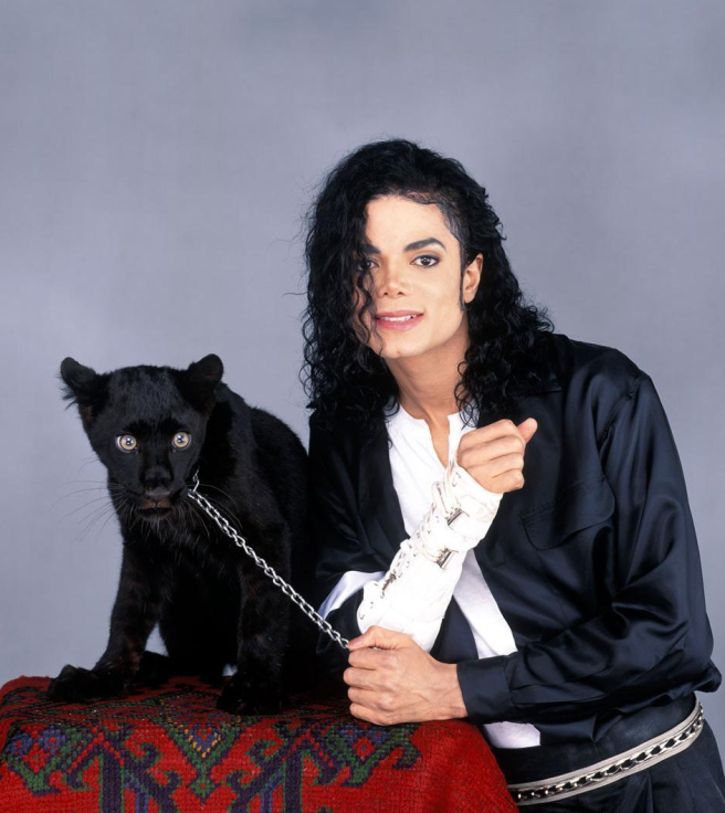 Michael Jackson with his Black Panther posing for Picture - PHOTO FOR EDUCATIONAL PURPOSE- ArchangelMichael777 Blog