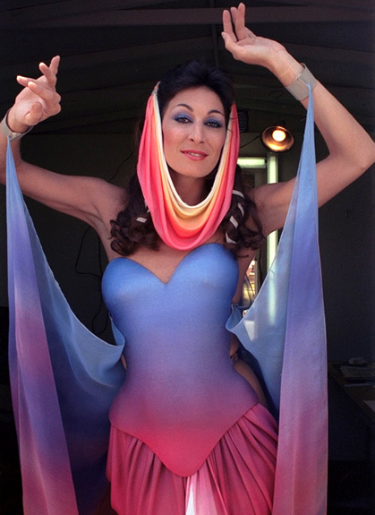 Anjelica Houston in the Beautiful Good Queen Outfit for Captain EO - PHOTO FOR EDUCATIONAL PURPOSE - Michael Jackson TwinFlame Soul Official Blog