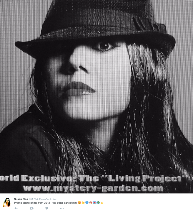 """2012 Promo Photo of Susan Elsa posing for """"OTHER PART OF HIM"""" Song Release © Susan Elsa - Michael Jackson TwinFlame Soul Official"""