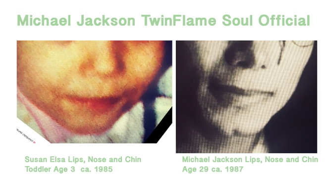 Susan Elsa Lips Nose Chin Toddler Age 3 compared to Michael Jackson Facial Details Age 29 © Susan Elsa - Michael Jackson TwinFlame Soul Official
