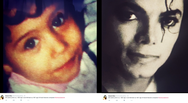 Twin Souls are ONE - Susan Elsa and Michael Jackson 80s Photos Comparison © Michael Jackson TwinFlame Soul Official