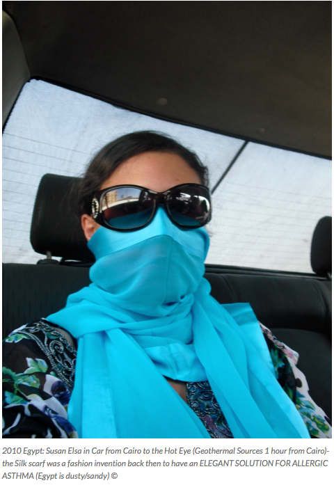 Susan Elsa Original Data from 2010 - Scarf Mask due to ALLERGIC ASTHMA in Egypt November 2010 © Michael Jackson TwinFlame Soul Official