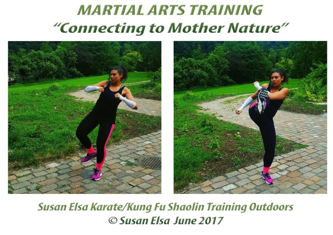 Martial Arts Training Summer Nature Karate Kung Fu Mix Shaolin Wisdoms © Susan Elsa June 2017