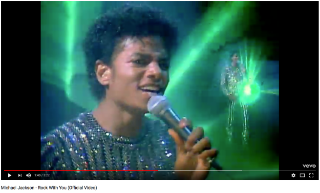 Michael Jackson's Original ROCK WITH YOU Video: Laser Effects Performance © Michael Jackson