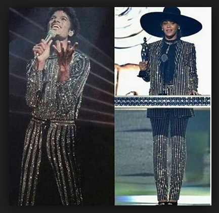 Beyonce rips of Michael Jacksons old Outfits for fake Fashion Icon Award © ArchangelMichael777 Commentary Super Bowl 2018