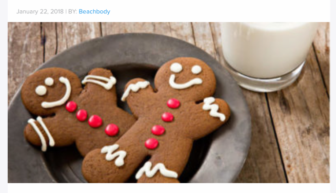 Recommended Gingerbread Man Recipe by Beach Body on Demand (Proteins)