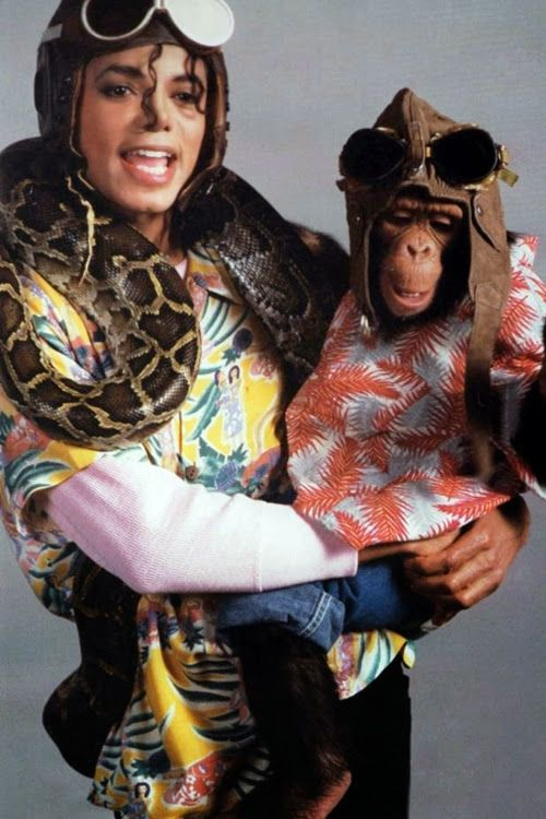 Michael Jackson with Snake Monkey Bubbles - ArchangelMichael777