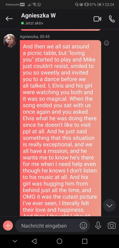 Susan Elsa receives incredible Message through Agnes seeing Elvis Presley in Spirit for 1st May 2020 - No1 Screenshot © Agnes W & Susan Elsa - ArchangelMichael777