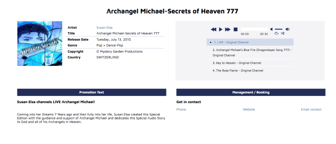 Susan Elsa & MGP Publishing Original Property and Release under HACKING ATTACKS 2010 - Michael Jackson TwinFlame Soul Official ArchangelMichael777