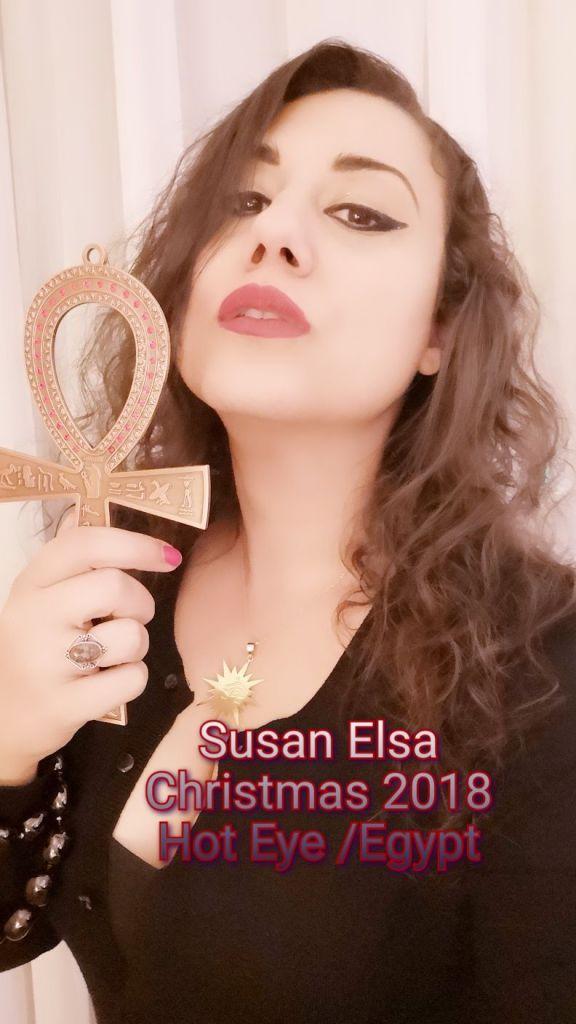 Susan Elsa 2018 - Hot Eye Egypt Travel and Brand ANKH & Necklace - Mystery Garden Productions Switzerland